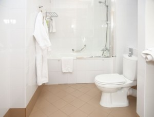 clean bathroom after housekeeping services in san diego